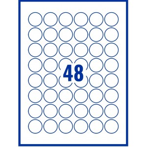 Image for 30mm x 30mm Labels - Standard Matt White - 48 Per A4 Sheet