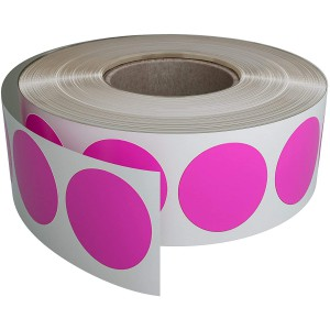 Image for 38mm Labels on Roll Round Diameter 38mm Pink (1000 per Roll )