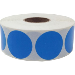 Image for 38mm Labels on Roll Round Diameter 38mm Blue (1000 per Roll )