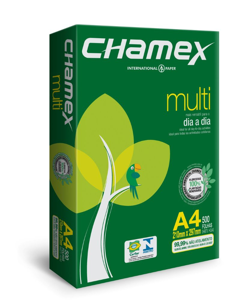 CHAMEX White 75gsm 210x297mm 70% PEFC certified BMT-PEFC-0409 210X297mm A4 (5 x Reams)