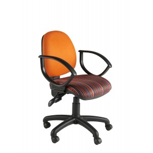 Image for MIMP Medium Back Operator Chair with Fixed arms (Twin Lever on Castors) Band 1 Fabric