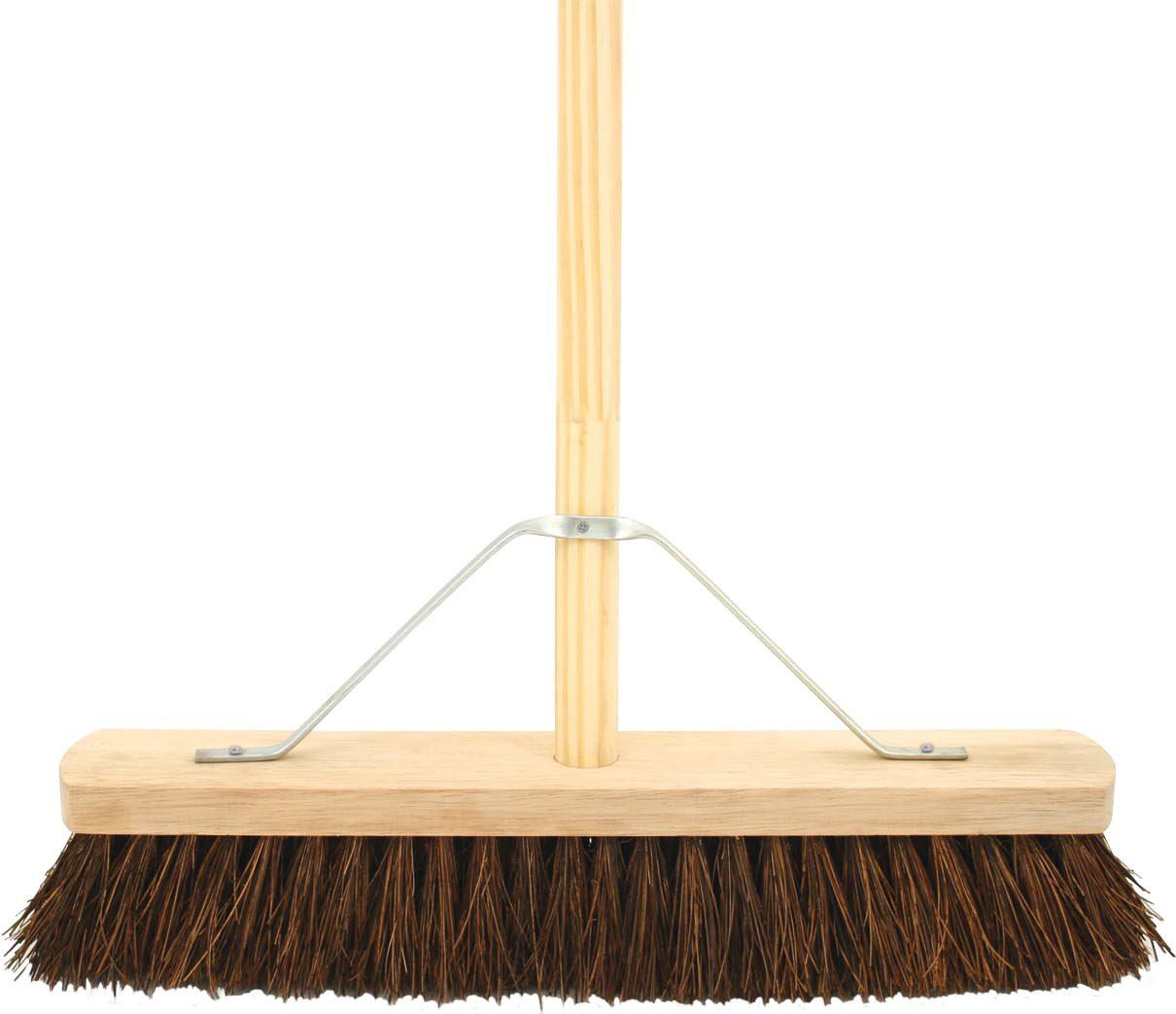 Wooden Broom Complete Stiff 18