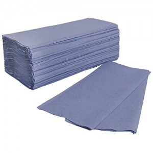 C Fold 1Ply Hand Towels Blue