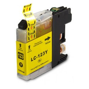 Brother Compatible LC123 Yellow Ink Cartridge
