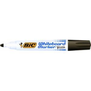 Bic Velleda Whiteboard Marker Bullet Tip Black 701099 PK12