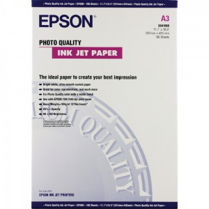 Epson A3+ Photo Qty Inkjet Paper Pk100