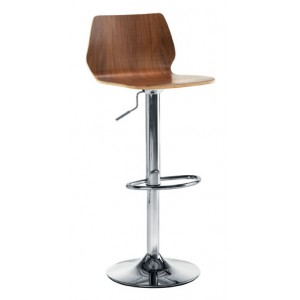 STORK CAFÉ/BAR STOOL WITH TRUMPET BASE AND GAS LIFT CHROME LEG SEAT HEIGHT: MIN:595MM MAX 805MM WAL