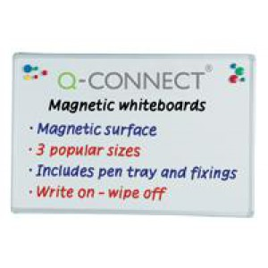 Q Connect Magnetic Drywipe Whiteboard 1800x1200mm KF01081 (424135)