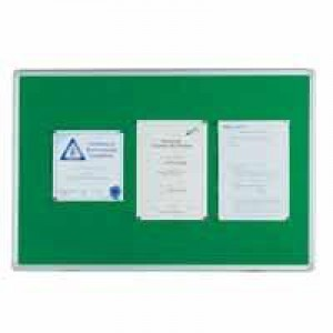 Q Connect Notice Board 1800x1200mm Aluminium Frame Green KF26065 (397832)
