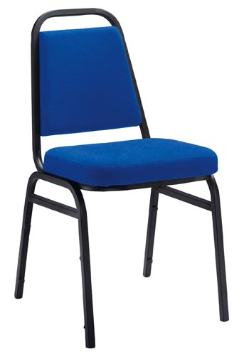 BANQUET CHAIR BLACK FRAME WITH ROYAL BLUE FABRIC