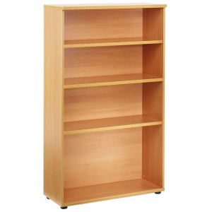 ESSENTIALS BOOKCASE/OPEN STORAGE (450MM DEEP) 800w X 450d X 1800h BEECH