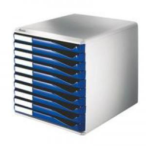 Leitz 10 Drawer Form Set Blue 5281-0035