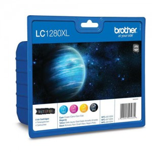 Brother LC1280XL Bk/C/M/Y Value Pack For Use On The MFC-J5910DW, 6510, 6710, 6910 etc.