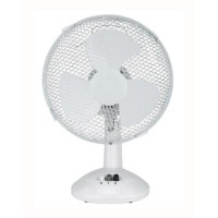 Image for 5 Star Facilities Desk Fan 9 Inch 90deg Oscillating with Tilt & Lock 2-Speed H320mm w/Cable 1.25m White