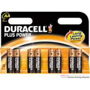 Duracell Plus Battery AAA Pack of 8 81275401 (619690)