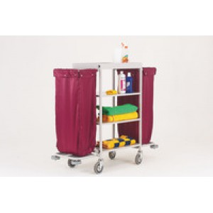 Maid Service Trolley Burgundy Bags 306769
