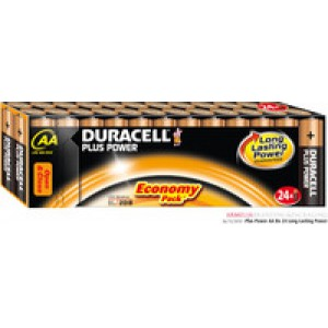 Duracell Plus Battery AA Pack of 24 81275383 (611636)