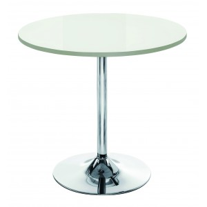 ELIPSE TRUMPET BASE MEETING TABLE WHITE GLOSS