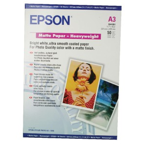 Epson Matt A3 Photo H/Weight Paper Pk50