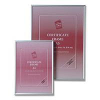 Photo Album Company Certificate Frame Brushed Aluminium A1 PAAFA1B