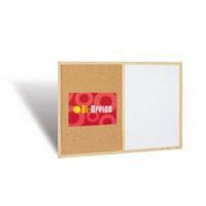Bi-Office Cork/Write On Wipe Off Board 600x900mm MX07001010