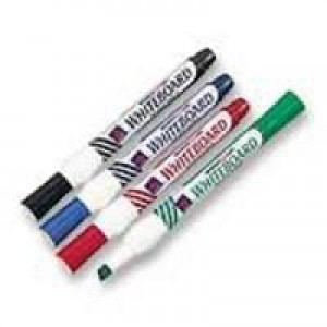 White Box Whiteboard Marker Chisel Tip Assorted Pack of 4 WX26038 (016521)