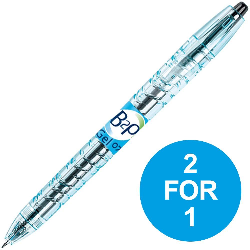 Pilot Begreen B2P Rollerball Pen Retractable 0.39mm Black Ref 054101001 [Pack 10] [2 for 1] Oct-Dec 2018