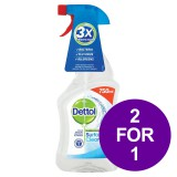 Dettol Surface Cleanser Spray 750ml Ref 14781 [2 For 1] Apr-Jun 2019