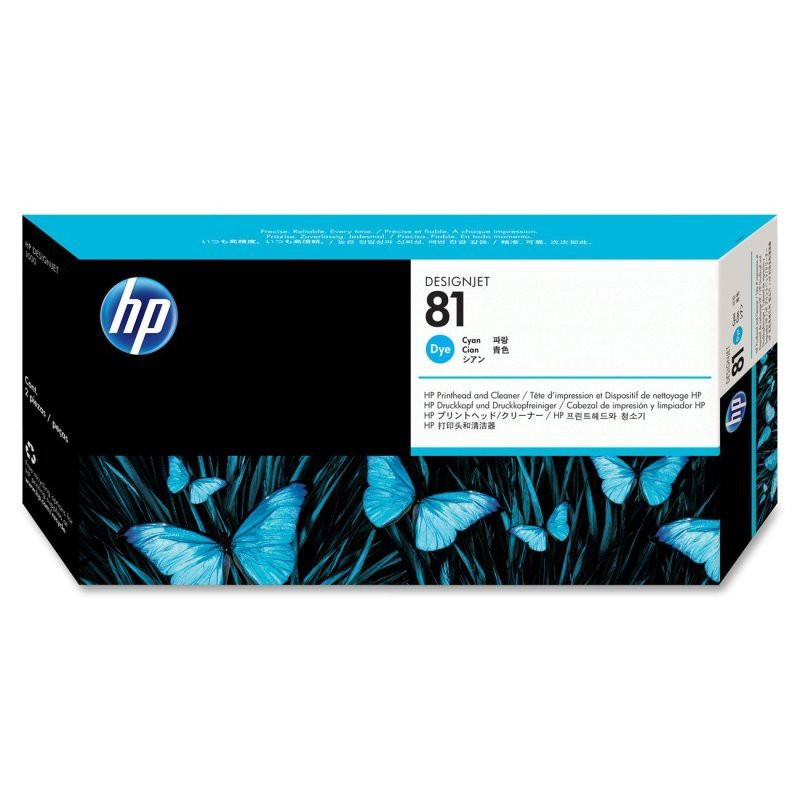 HP 81 Cyan DesignJet Dye Pk3 C5067A