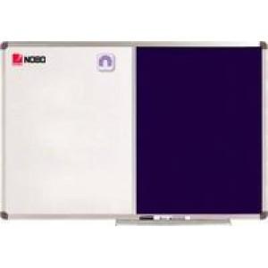Nobo Elipse Combination Board Magnetic Drywipe/Blue Felt 1200x900mm 1902258