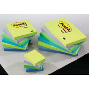 3M Post-it Notes Cool Neon Rainbow Pack of 6 76x127mm 655MT