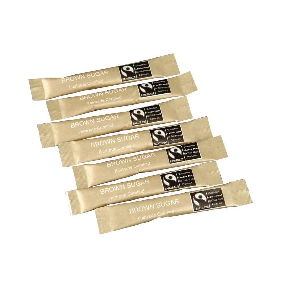 Fairtrade Sugar Sachets Brown Demerara Ref A07761 [Pack 1000]