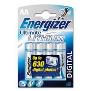 Energizer Ultimate Lithium Battery AA Pack of 4 626264