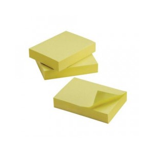 Contract Yellow Quick Notes 38x51mm (Pack 12)