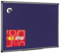 Bi-Office Felt Board 1200x900mm Blue Aluminium Frame FA0543170