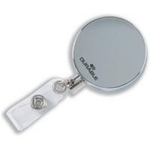 *Durable Chrome Badge Reel Pack of 10 8225/23 (X21)