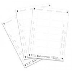 Q Connect Name Badge Inserts 54x90mm 25 Sheets x 10 Inserts KF02289