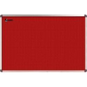 Nobo Elipse Notice Board Felt Red 1200x900mm 1902260