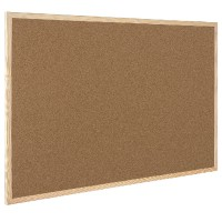 Image for Q-Connect Cork Board Wooden Frame 400 x 600mm