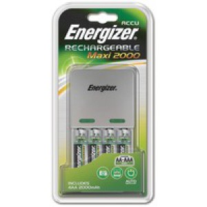 Energizer Maxi Battery Charger 4x AA Batteries 2000 MaH 632325
