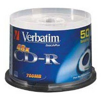 Verbatim CD-R 700Mb/80minutes Inkjet Printable Pack of 50 43309