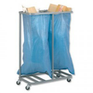 Go Secure Double Sack Holder Silver SH2SIL