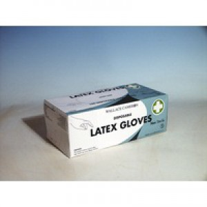 Wallace Cameron Latex Gloves Disposable Medium Pack of 100 2603005
