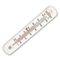 Wallace Cameron Wall Thermometer with Factory Regulation Temperatures 4830007