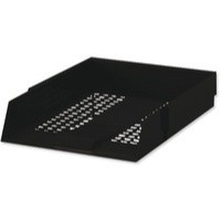 White Box Contract Letter Tray Black