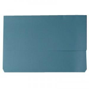 Document Wallet 220gsm Foolscap Blue WX23011A