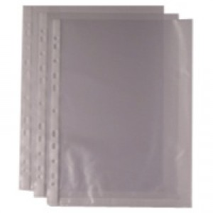 Whitebox Punched Pocket A4 Clear 35 micron 270486 (Pk 100) WX24001