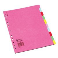 A4 Manilla Divider 10-Part Multi-Colour