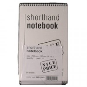Spiral Shorthand Notebook 80 Leaf WX31003