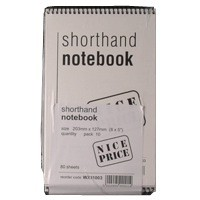 Spiral Shorthand Notebook 80 Leaf